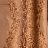 Chai Brown Gold Silk Swatch
