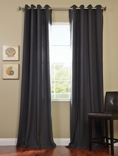 2-1 Charcoal Grommet Cotenza Curtain Panel