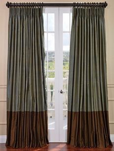 Create Your Own Banded Thai Silk Curtain