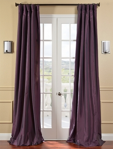 DEAL BUSTER: 2-1 Dahlia Faux Silk Taffeta Curtain