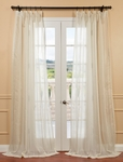 Essex Natural Linen Blend Stripe Sheer Curtain