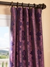 Fiori Dahlia Flocked Faux Silk Curtain