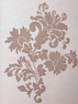 Francesca Taupe Patterned Sheer Swatch