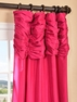 Fuschia Ruched Faux Solid Taffeta Curtain