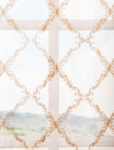 Gia Gold Embroidered Sheer Swatch