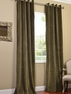 Hunter Green Grommet Velvet Blackout Curtain