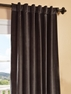 Iron Grey Vintage Cotton Velvet Curtain