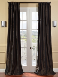 DEAL BUSTER: 2-1 Java Faux Silk Taffeta Curtain