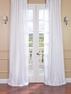 JUST ADDED: 2-1 French Pleat Off White Vintage Textured Faux Dupioni Silk Curtain 25 x 84