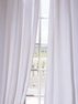 JUST ADDED: 2-1 French Pleat White Linen Curtain 25 x 108