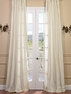 JUST ADDED: 2-1 Inverted Pleat Pearl Textured Dupioni Silk Curtain 50 x 108