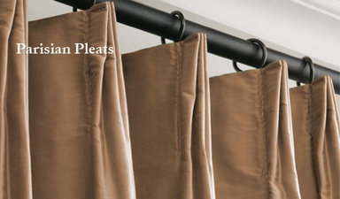 JUST ADDED: 2-1 Parisian Pleat Graphite Faux Silk Taffeta Curtain 40 x 108 (2 widths each panel)