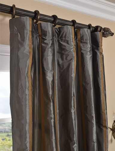 2-1 Preston Silk Stripe Curtain 50 x 120 **Enter Qty 1 For 2 Panels, 2 For 4 etc