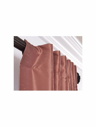 JUST ADDED: 2-1 Spice Vintage Textured Faux Dupioni Silk Curtain 50 x 120