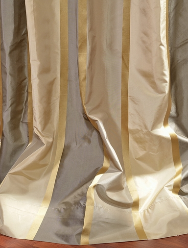 2-1 Wilmington Silk Stripe Curtain 50 x 96 **Enter Qty 1 For 2 Panels, 2 For 4 etc