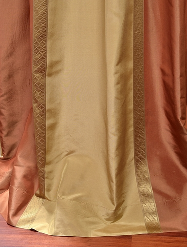 2-1 Somerset Silk Stripe Curtain 50 x 84 **Enter Qty 1 For 2 Panels, 2 For 4 etc