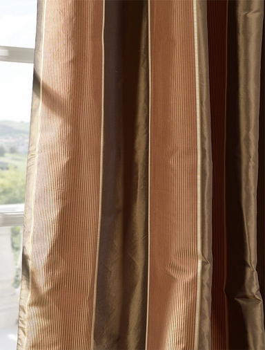 2-1 Windsor Silk Stripe Curtain 50x 120 **Enter Qty 1 For 2 Panels, 2 For 4 etc