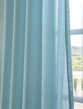 Lagoon Faux Linen Sheer Swatch