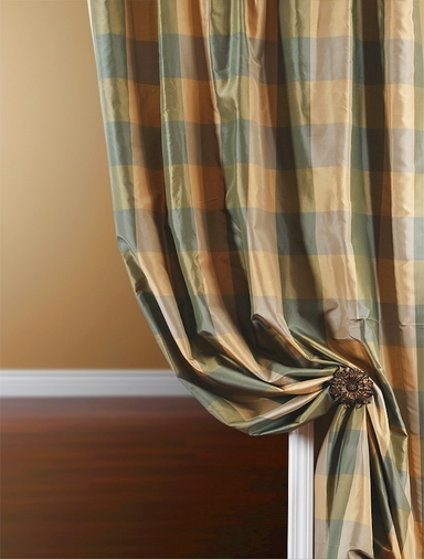 2-1 Gable Silk Plaid Curtain 50 x 96 **Enter Qty 1 For 2 Panels, 2 For 4 etc