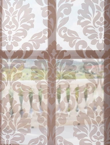 Loretta Taupe Patterned Sheer Swatch