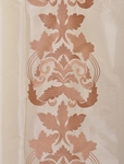 Lyon Cr�me Embroidered Faux Silk Swatch