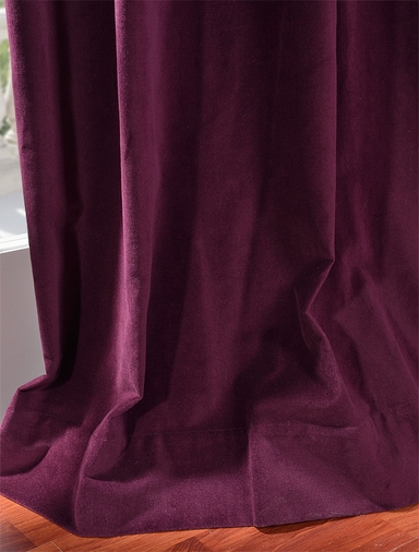 Majestic Plum Vintage Cotton Velvet Curtain