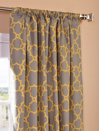 Marabella Printed Cotton Curtain