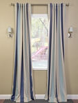 Marco Polo Stripe Blackout Back-Tab Pole Pocket Curtain