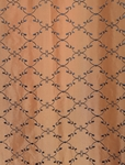 Morracco Bronze Embroidered Faux Silk Swatch