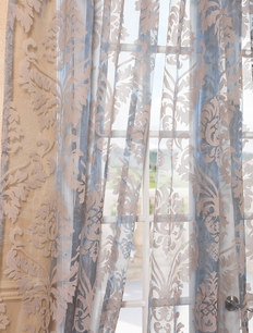 DEAL BUSTER: 2-1 Agatha Taupe Gray Patterned Sheer Curtain