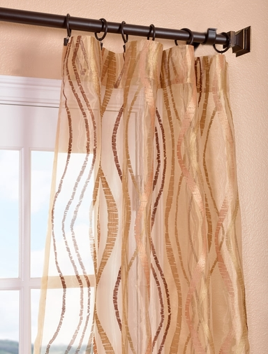 alegra gold embroidered sheer curtains drapes