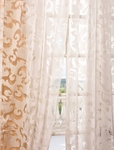 Alesandra White Patterned Sheer Curtain