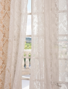 DEAL BUSTER: 2-1 Antoinette White Patterned Sheer Curtain