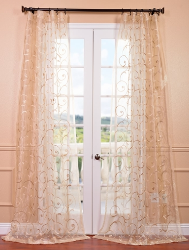 similiar embroidered sheer curtains keywords