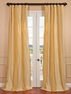 Bergamo Faux Silk Taffeta Stripe Curtain