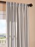 DEAL BUSTER: 2-1 Bermuda Gray Linen Blend Stripe Curtain