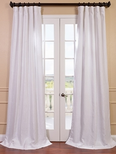 Blanc White French Linen Curtain