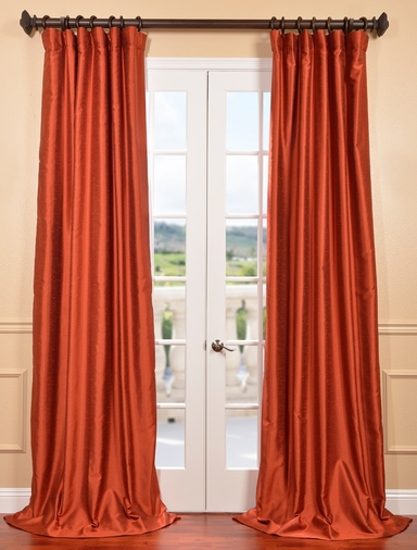 Curtains With Valance For Living Room Flocked Faux Silk Curtains