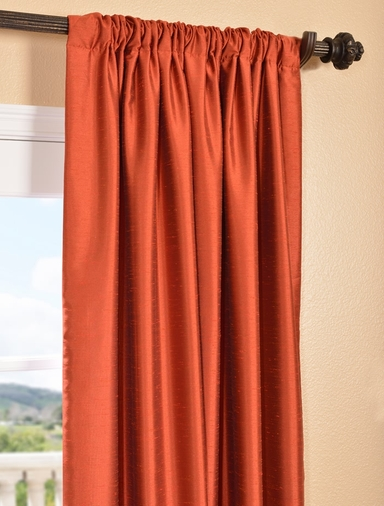 Curtains With Valance For Living Room Ruched Faux Silk Curtains