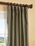 Blue Nile Yarn Dyed Faux Dupioni Silk Curtain