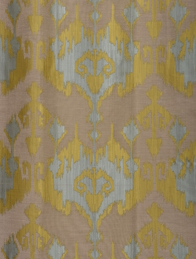 Borneo Blue Jacquard Curtain
