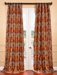 DEAL BUSTER: 2-1 Borneo Rust Jacquard Curtain