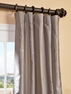 NEW: Brighton Grey Silk Stripe Curtain
