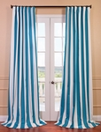 Cabana Teal Printed Cotton Curtain