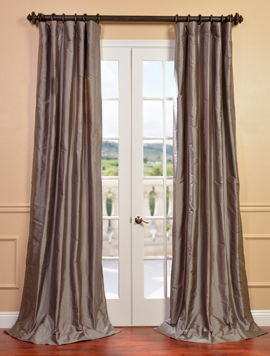 NEW: Cambridge Grey Silk Stripe Curtain