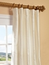 NEW: Cambridge White Silk Stripe Curtain