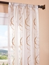 2-1 Camille Taupe Gold Embroidered Sheer Curtain