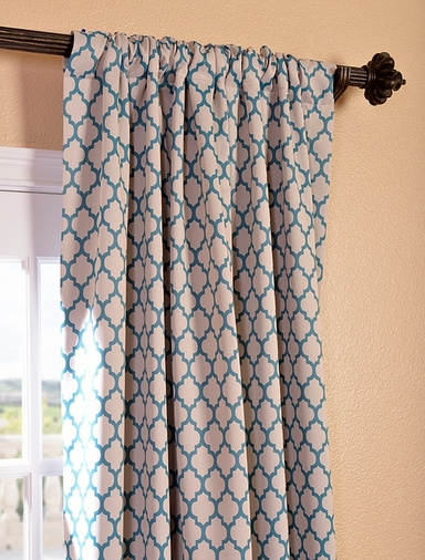 casablanca teal blackout curtains drapes