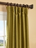 Chartreuse Yarn Dyed Faux Dupioni Silk Curtain