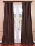 Chestnut Heavy Faux Linen Curtain